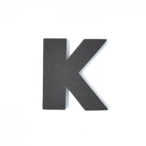 EVAアルファベット K ブラック
