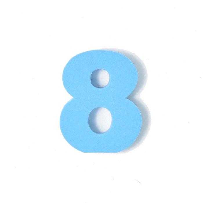 EVA数字 8 スカイブルー