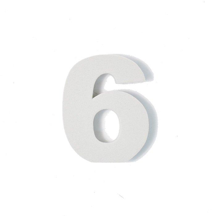 EVA数字 6 グレー