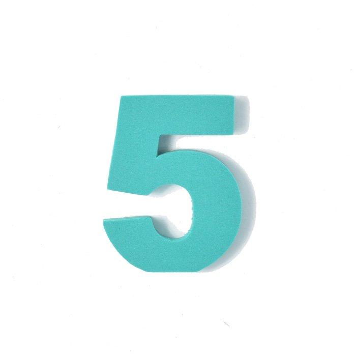 EVA数字 5 グリーン