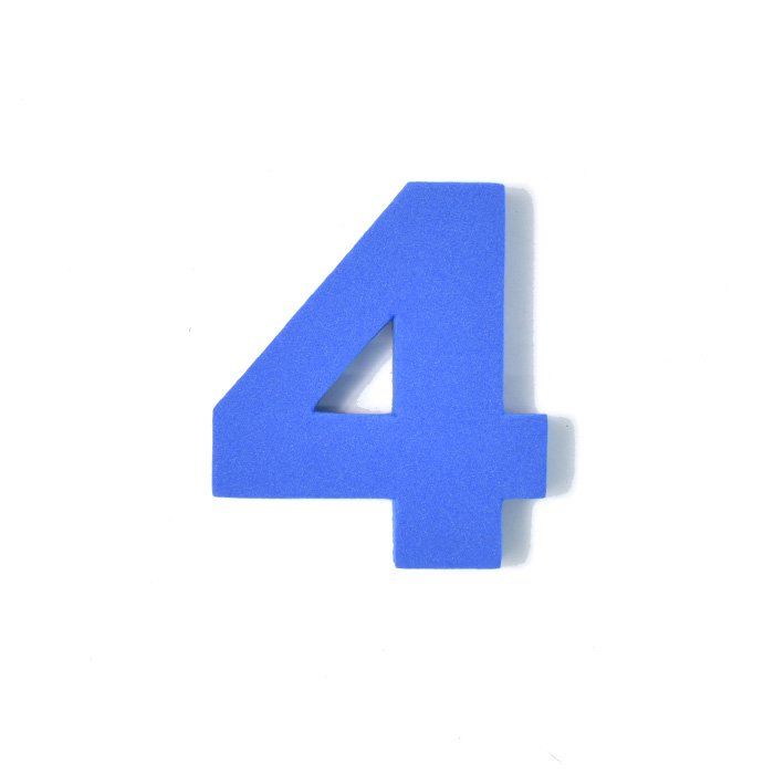 EVA数字 4 ブルー