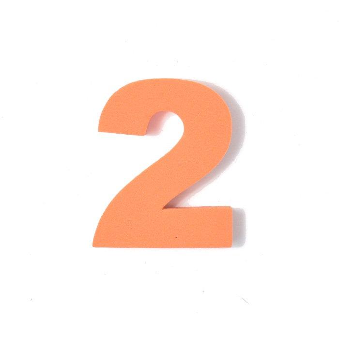 EVA数字 2 オレンジ