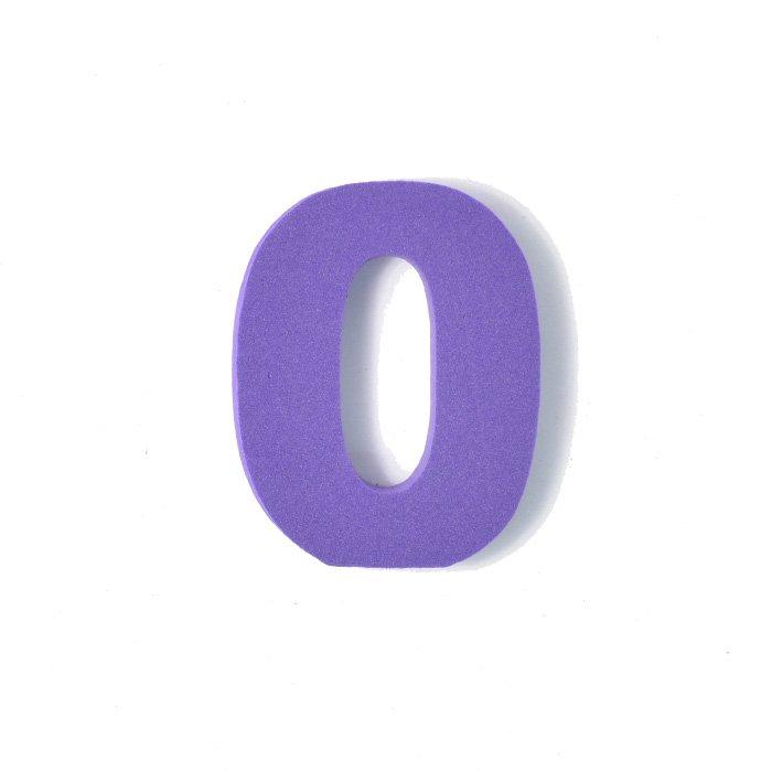 EVA数字 0 パープル