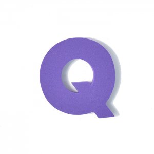 EVAアルファベット Q パープル