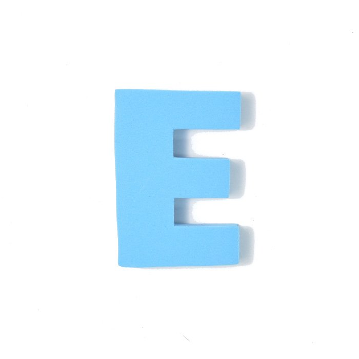 EVAアルファベット E スカイブルー
