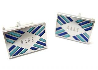 DAKS(ダックス) ツートンブルーカフス (カフスボタン/カフリンクス) - ブランド