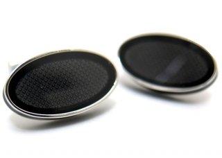 TATEOSSIAN(タテオシアン)エナメル オーバルアイスカフス(ブラック)(カフスボタン/カフリンクス) - ブランド