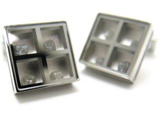 TATEOSSIAN(タテオシアン) ユニーク プレシャスウィンドウカフス(ラフダイヤモンド約1.91cts)(カフスボタン/カフリンクス) - ブランド