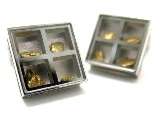 TATEOSSIAN(タテオシアン) ユニーク プレシャスウィンドウカフス(ゴールドナゲット約0.838g)(カフスボタン/カフリンクス) - ブランド