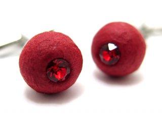 ARTISAN SPIRIT KUROTANI WASHI SPHERE RED CUFFLINKS 黒谷和紙スフィアカフス(レッド)(カフスボタン/カフリンクス)