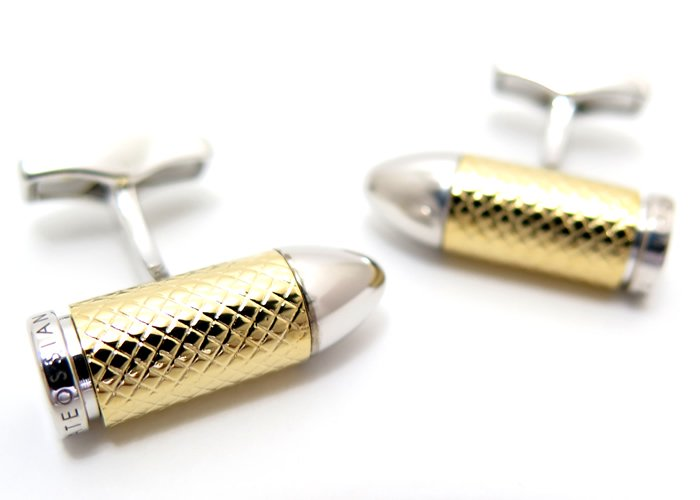 TATEOSSIAN(タテオシアン)  バレットチャンバーシルバーカフス(イエローゴールドメッキ)(カフスボタン/カフリンクス) - ブランドの画像