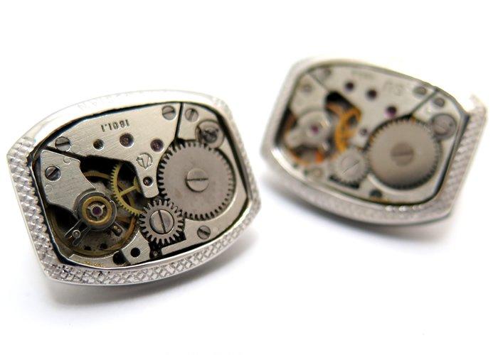 TATEOSSIAN(タテオシアン)  シグニチャビンテージスケルトンレンタングラーシルバーカフス(ロジウム)カフスボタン/カフリンクス) - ブランドの画像
