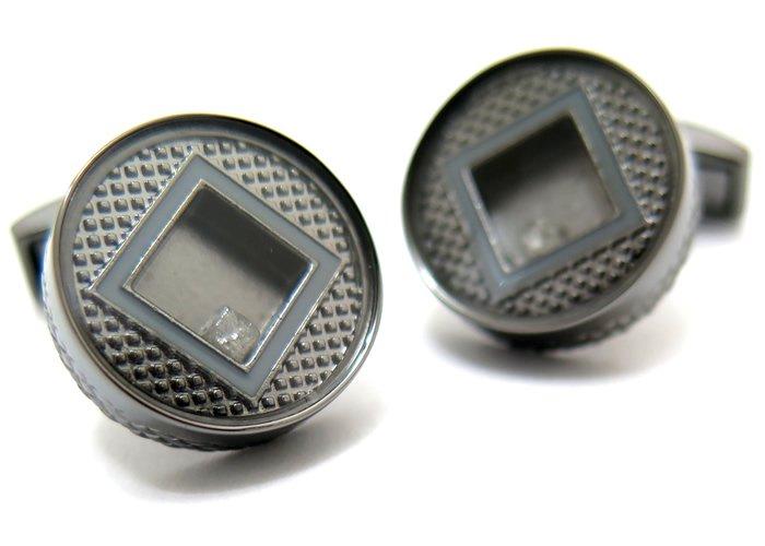 TATEOSSIAN(タテオシアン) ユニーク プレシャスウィンドウラウンドカフス(ダイヤモンド)(カフスボタン/カフリンクス) - ブランドの画像