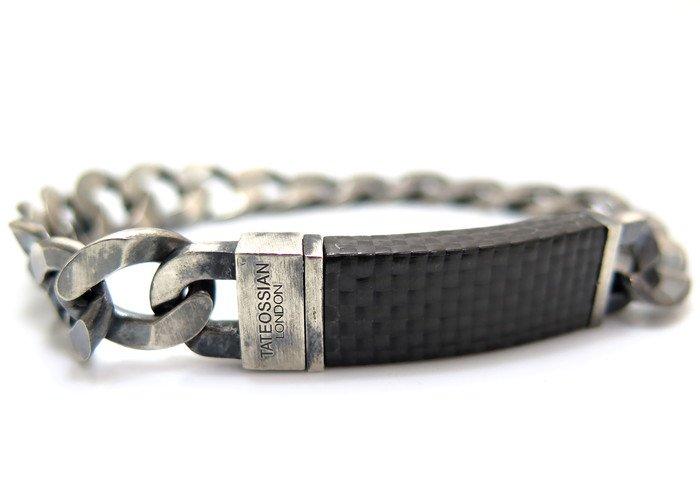 TATEOSSIAN(タテオシアン)ピュア シルバーカーボングラメットブレスレット(燻し銀) - ブランドの画像
