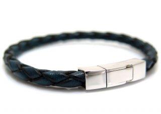 TATEOSSIAN(タテオシアン)シルバー編み上げクラシックブレスレット(ブルー) - ブランド