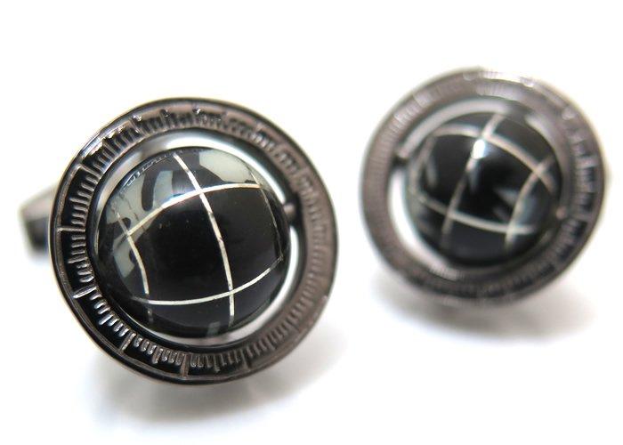 TATEOSSIAN(タテオシアン)  地球儀カフス(オニキス・ブラックロジウム)世界限定120セット(カフスボタン/カフリンクス) - ブランドの画像