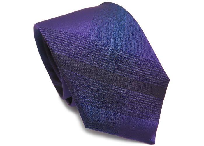 TINO COSMA (ティノコズマ)タータンチェック シルク ネクタイ(パープル)(ネクタイ/タイ) - ブランドの画像