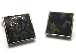 TATEOSSIAN(タテオシアン) チタニウムレザーカフス(カモフラージュ)(カフスボタン/カフリンクス) - ブランド