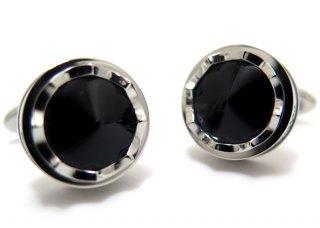 MONTEGRAPPA(モンテグラッパ) パローラカフス(スティール、ブラックグラス)(カフスボタン/カフリンクス) - ブランド