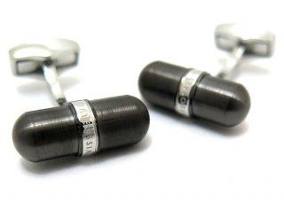 TATEOSSIAN(タテオシアン) メタリックピルカフス(IPガンメタル) (カフスボタン/カフリンクス) - ブランド