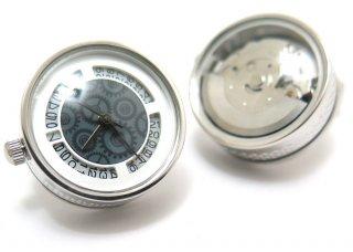 TATEOSSIAN(タテオシアン)メカニカル オートマティック時計カフス(ロジウム)(カフスボタン/カフリンクス) - ブランド