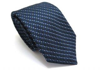 TINO COSMA (ティノコズマ)スクエア&ロンバス ジオメトリックパターンシルクタイ(ブルー)(ネクタイ/タイ) - ブランド