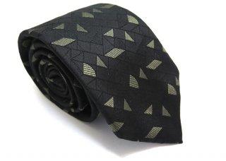 TINO COSMA (ティノコズマ)シェイプジオメトリックパターン シルクネクタイ(ブラック)(ネクタイ/タイ) - ブランド