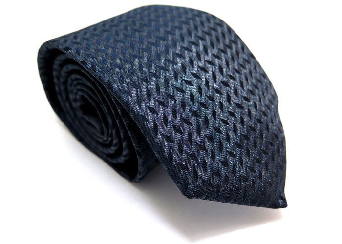 TINO COSMA (ティノコズマ)キューブパターン シルクネクタイ(ネイビー)(ネクタイ/タイ) - ブランドの画像