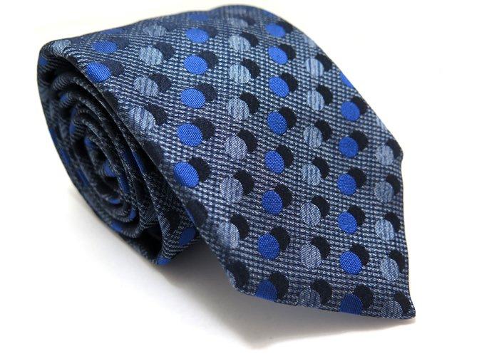 TINO COSMA (ティノコズマ)ダブルドット シルクネクタイ(ブルー)(ネクタイ/タイ) - ブランドの画像
