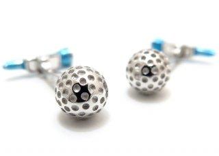 JAN LESLIE(ジャンレスリー) ゴルフボール&ムービングブルーティーシルバーカフス (カフスボタン/カフリンクス) - ブランド