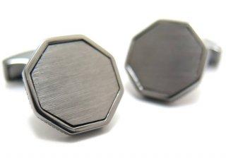 TATEOSSIAN(タテオシアン) クラシックロンドンアイシルバーカフス(ブラッシュブラックロジウム)(カフスボタン/カフリンクス) - ブランド