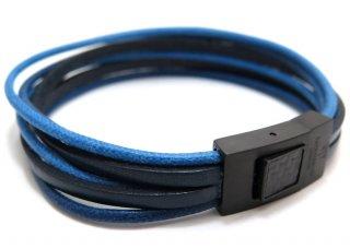 TATEOSSIAN(タテオシアン)タラセアブレスレット(ブラックIP&ブルー) - ブランド