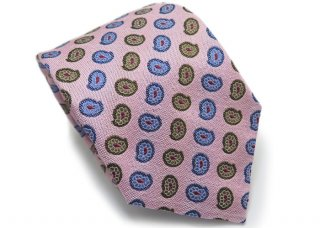 TINO COSMA (ティノコズマ)ペイズリー シルク ネクタイ(ピンク)(ネクタイ/タイ) - ブランド