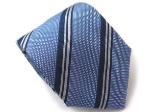 TINO COSMA (ティノコズマ)レジメンタル ストライプ ブルーライン シルク ネクタイ(ブルー)(ネクタイ/タイ) - ブランド