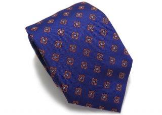 TINO COSMA (ティノコズマ)ファイン フラワー パターン シルク ネクタイ(ブルー)(ネクタイ/タイ) - ブランド