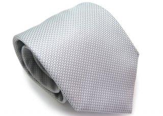 TINO COSMA (ティノコズマ)スモール ギンガムチェック シルク ネクタイ(シルバー)(ネクタイ/タイ) - ブランド