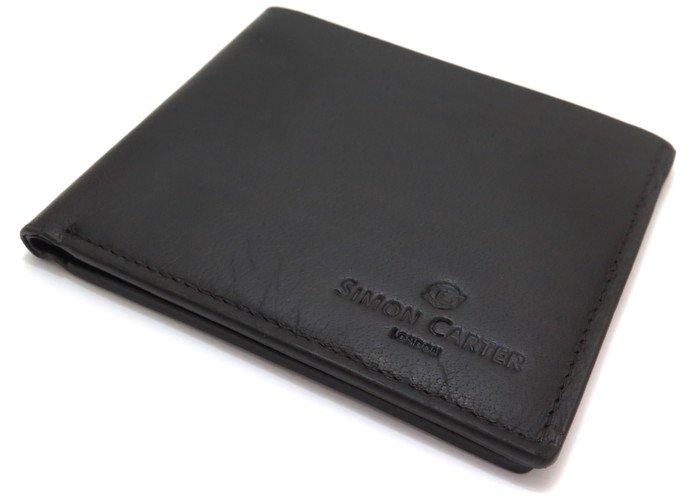 SIMON CARTER(サイモンカーター) スリムウォレット(ブラウン) (折り畳み財布) - ブランドの画像