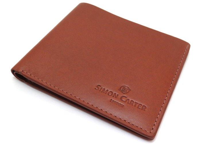 SIMON CARTER(サイモンカーター) スリムウォレット(タン) (折り畳み財布) - ブランドの画像