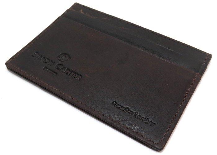 SIMON CARTER(サイモンカーター) T-REXカードホルダー(ブラウン) (カードケース カード入れ) - ブランドの画像