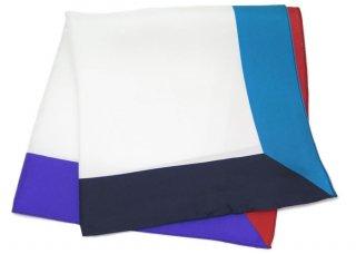 TINO COSMA(ティノコズマ) 4カラー パネル シルク ポケットスクエア(ハンカチ/チーフ) - ブランド
