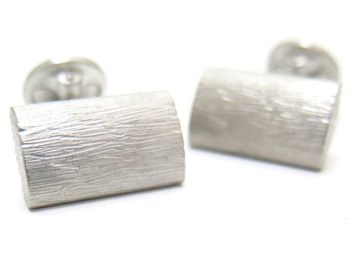 TATEOSSIAN(タテオシアン) ピュア グラッフィエイトシルバーカフス(ブラッシュロジウム)(カフスボタン/カフリンクス) - ブランドの画像