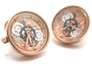TATEOSSIAN(タテオシアン) メカニカル ビンテージギア時計カフス(ローズゴールド) 世界限定100セット(カフスボタン/カフリンクス) - ブランド
