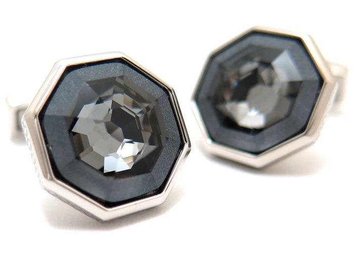 TATEOSSIAN(タテオシアン) ウェブスワロフスキーカフス30周年記念復刻モデル(ブラック)(カフスボタン/カフリンクス) - ブランドの画像