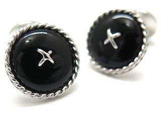 TATEOSSIAN(タテオシアン) ストーンオブザワールド ケーブルボタンダブルエンドカフス(ブラックアゲート)(カフスボタン/カフリンクス) - ブランド