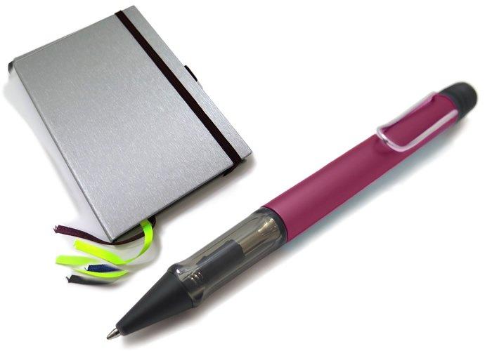 【数量限定】LAMY(ラミー)アルスター ボールペン ハードカバーA6 ペン&ペーパー ギフトセット(ディープパープル) - ブランドの画像