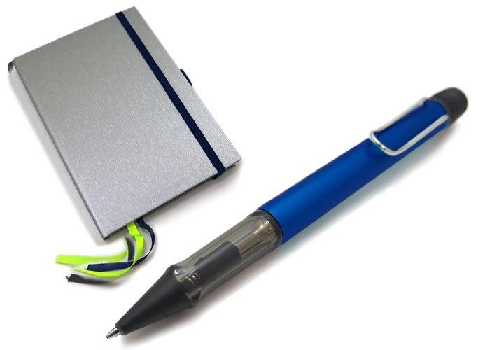 【数量限定】LAMY(ラミー)アルスター ボールペン ハードカバーA6 ペン&ペーパー ギフトセット(オーシャンブルー) - ブランドの画像