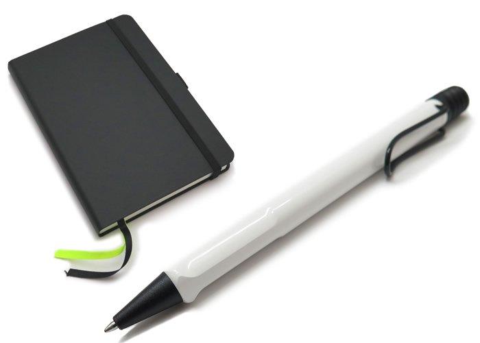 【数量限定】【日本限定】LAMY(ラミー)サファリ ボールペン ソフトカバー A6 ペン&ペーパー ギフトセット(ホワイトブラッククリップ) - ブランドの画像