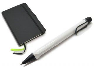 【数量限定】【日本限定】LAMY(ラミー)サファリ ボールペン ソフトカバー A6 ペン&ペーパー ギフトセット(ホワイトブラッククリップ) - ブランド