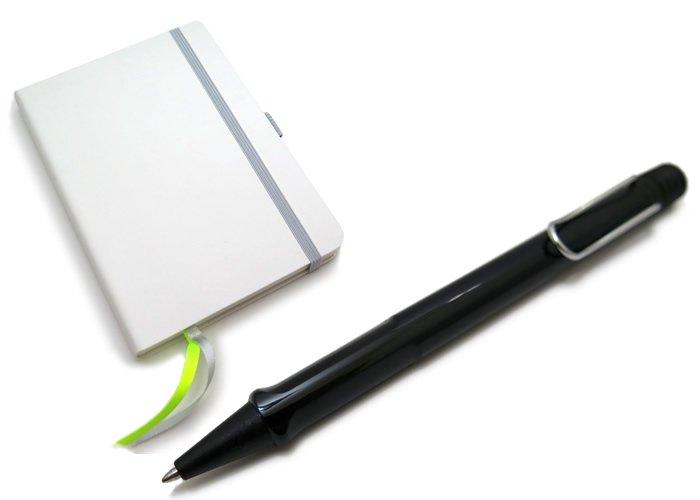 【数量限定】LAMY(ラミー)サファリ ボールペン ソフトカバー A6 ペン&ペーパー ギフトセット(シャイニーブラック) - ブランドの画像