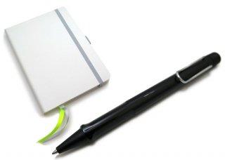 【数量限定】LAMY(ラミー)サファリ ボールペン ソフトカバー A6 ペン&ペーパー ギフトセット(シャイニーブラック) - ブランド